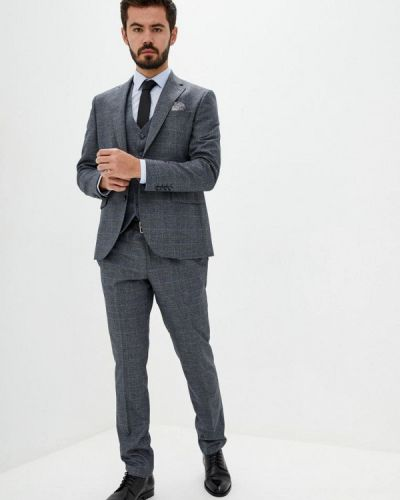 Серый классический костюм классический Navi