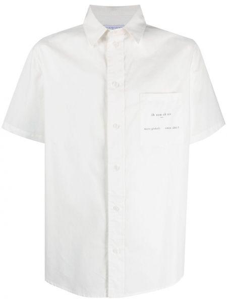 Biała koszula bawełniana krótki rękaw Ih Nom Uh Nit