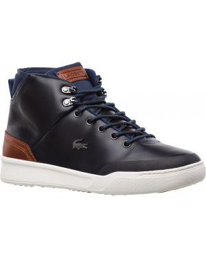 Кожаные ботинки темно-синий текстильные Lacoste