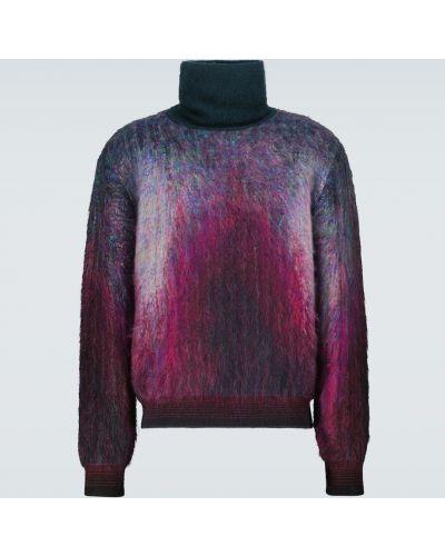Fioletowy sweter moherowy Berluti