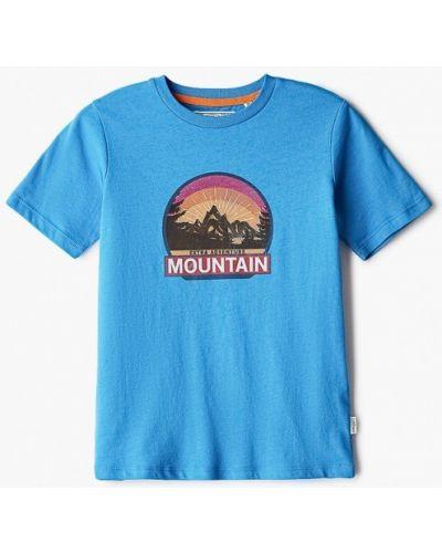 Синяя с рукавами футболка Produkt