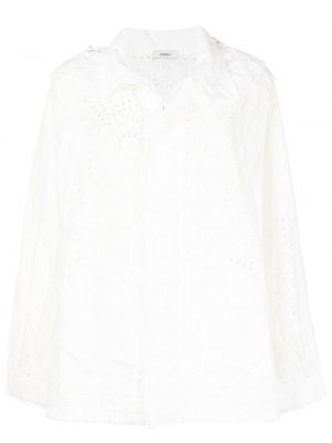 Белая куртка с капюшоном на молнии Goen.j