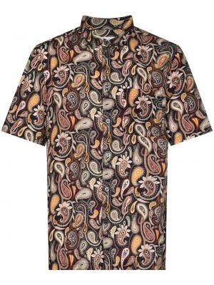 Рубашка с коротким рукавом - коричневая Wood Wood