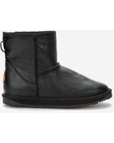 Черные кожаные угги Keddo
