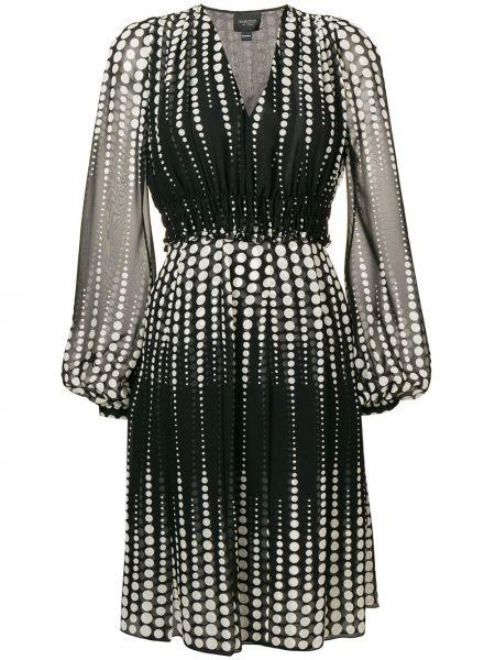 Черное платье мини прозрачное на пуговицах Giambattista Valli