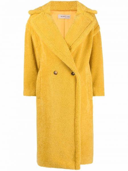Żółty długi płaszcz Blanca Vita