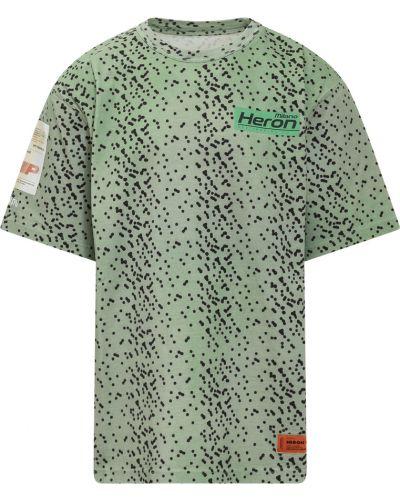 Zielona t-shirt Heron Preston