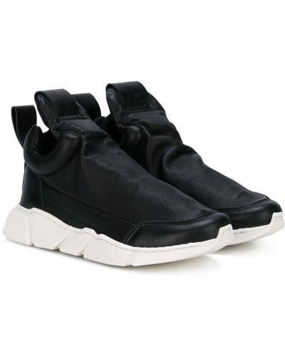 Кожаные черные кроссовки без застежки Cinzia Araia Kids