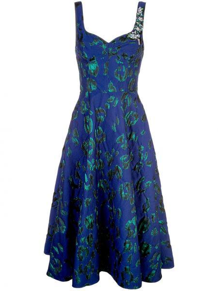 Zielona sukienka koktajlowa asymetryczna z wiskozy Jason Wu Collection