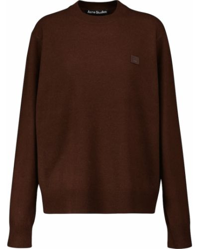 Коричневый шерстяной свитер Acne Studios