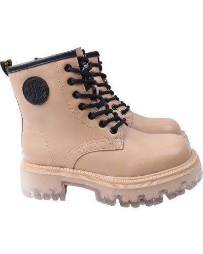 Кожаные ботинки - бежевые Lifexpert