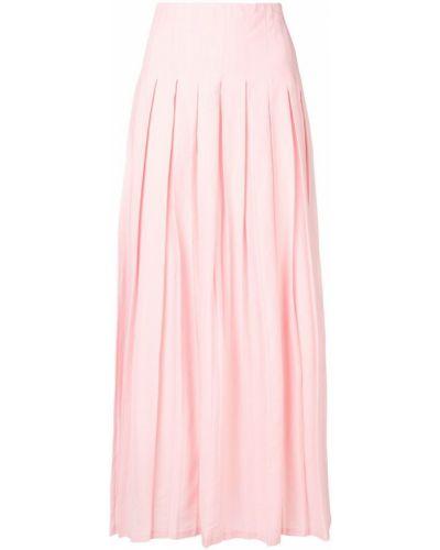 Юбка макси с завышенной талией розовая Mara Hoffman