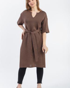 Платье с поясом через плечо для полных Lacywear
