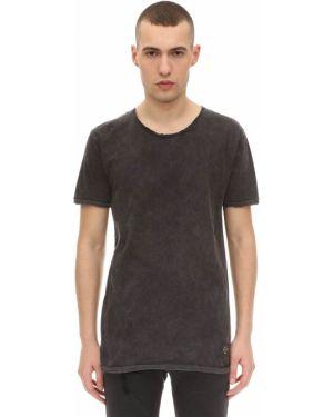 Prążkowany czarny t-shirt bawełniany The People Vs
