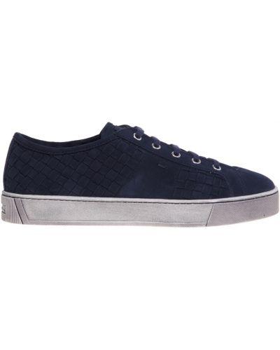 Sneakersy skorzane Santoni