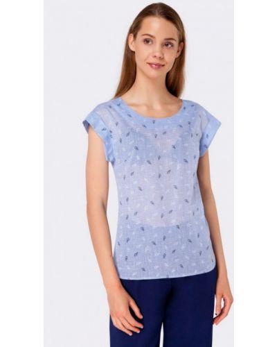 Голубая блузка Cat Orange