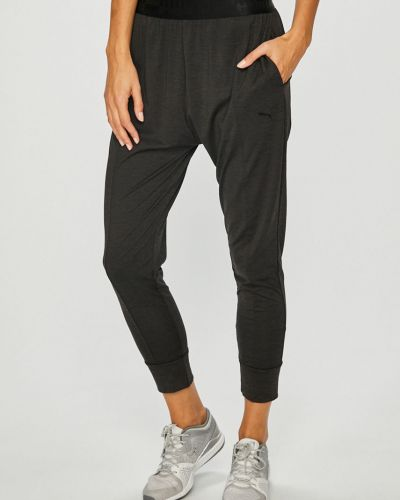 Спортивные брюки на резинке серые Puma