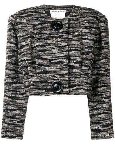 Черная куртка Balmain Pre-owned