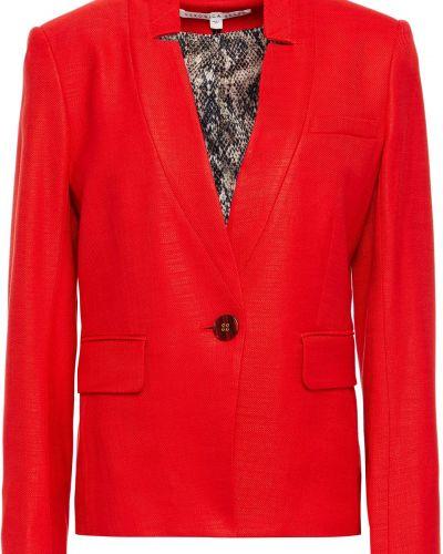 Пиджак с подкладкой на пуговицах из вискозы Veronica Beard