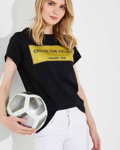 Черная футболка Trussardi Jeans