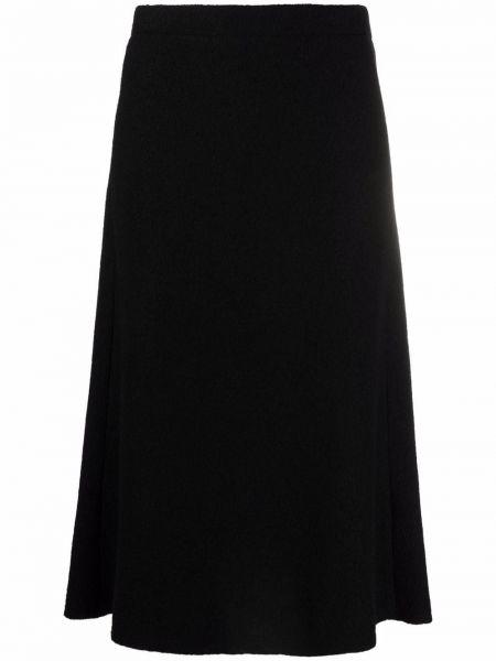 Spódnica wełniana - czarna Filippa K