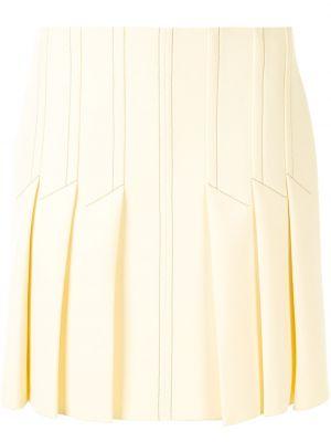 Плиссированные желтые с завышенной талией шорты Dion Lee
