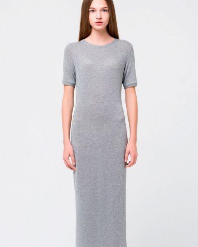 Платье мини осеннее серое Minimally