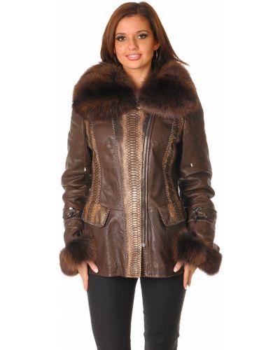 Кожаная куртка - коричневая Fontani