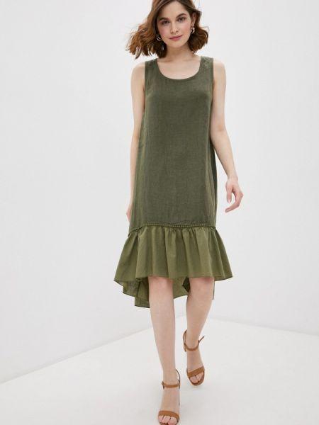 Прямое зеленое платье Baon