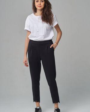 Повседневные брюки с карманами для офиса с разрезом Mari-line