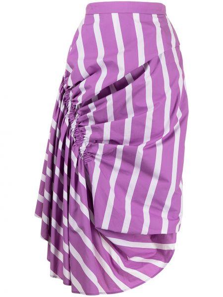 Fioletowa spódnica asymetryczna bawełniana Pushbutton