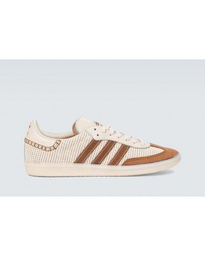 Brązowy skórzany sneakersy zabytkowe przezroczysty Adidas Originals