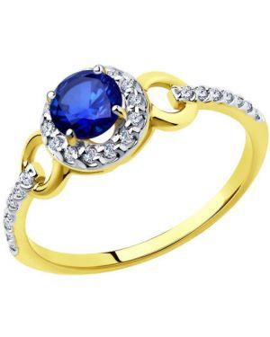 Кольцо из золота синий Sokolov