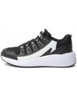 Классические черные кроссовки сетчатые со вставками Kappa