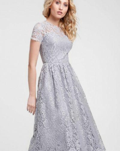 Вечернее платье осеннее серое Evercode