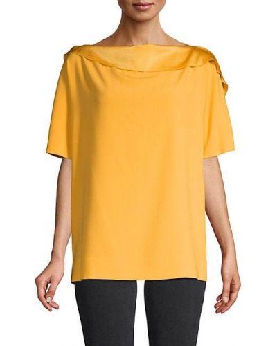 Свободный желтый с рукавами топ Escada