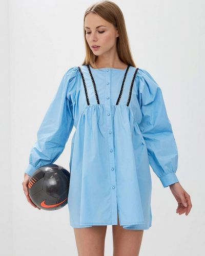 Голубое платье с длинными рукавами Sister Jane