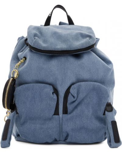 Кожаный рюкзак белый на молнии See By Chloe