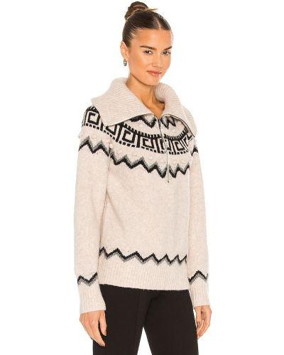 Beżowy sweter wełniany Saylor