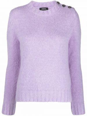 Шерстяной джемпер - фиолетовый A.p.c.