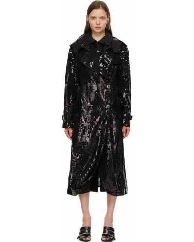 Черное длинное пальто Junya Watanabe