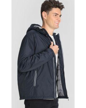 Базовая синяя куртка с капюшоном на молнии с карманами Ostin
