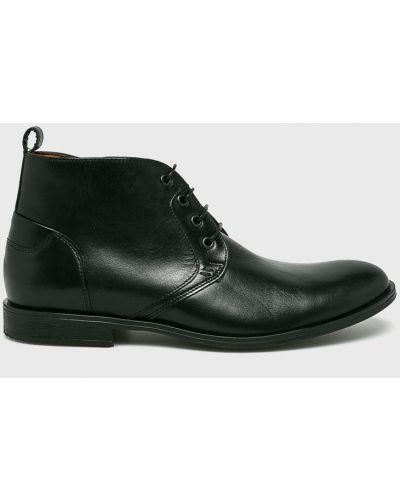 Кожаные ботинки на шнуровке высокие Conhpol