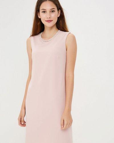 Коктейльное платье осеннее розовый Zarina