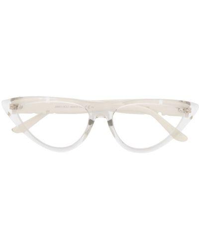 Белые очки кошачий глаз Jimmy Choo Eyewear