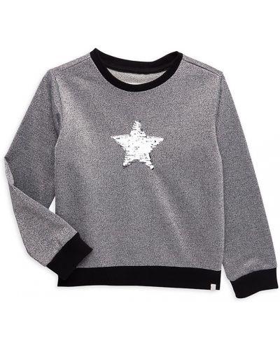Серебряный хлопковый длинный свитер с длинными рукавами Sovereign Code