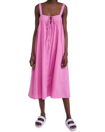 Хлопковое розовое платье с подкладкой Xírena