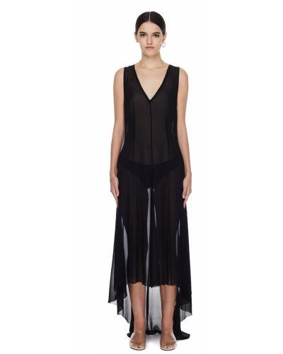 Платье полупрозрачное - черное Ann Demeulemeester