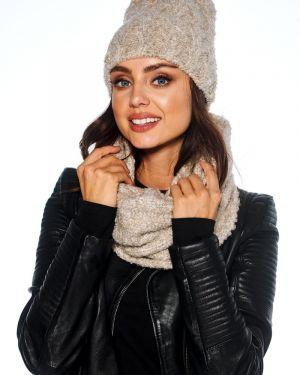 Zimowy kapelusz beżowy Producent Niezdefiniowany