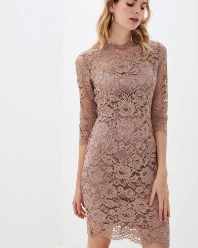 Вечернее платье розовое осеннее Lusio